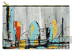 Carry-all Pouch featuring the painting City Limits by Carmen Guedez