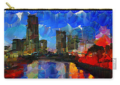 City Living - Tokyo - Skyline Carry-all Pouch by Sir Josef - Social Critic -  Maha Art
