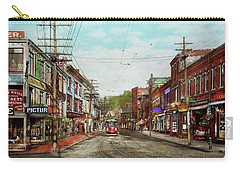 Carry-all Pouch featuring the photograph City - Ma Glouster - A Little Bit Of Everything 1910 by Mike Savad