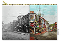 Carry-all Pouch featuring the photograph City - Ma Glouster - A Little Bit Of Everything 1910 - Side By Side by Mike Savad