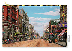 Carry-all Pouch featuring the photograph City - Memphis Tn - Main Street Mall 1909 by Mike Savad