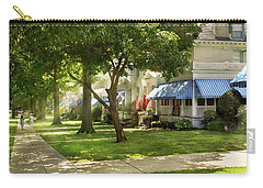 Carry-all Pouch featuring the photograph City - Naval Academy - A Walk Down Captains Row by Mike Savad