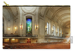 Carry-all Pouch featuring the photograph City - Naval Academy - God Is My Leader by Mike Savad