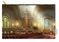 Carry-all Pouch featuring the photograph City - Naval Academy - The Chapel by Mike Savad