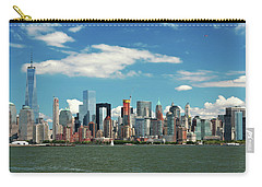 Carry-all Pouch featuring the photograph City - New York Ny - The New York Skyline by Mike Savad