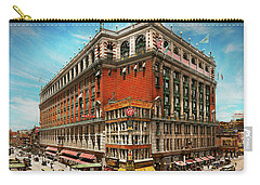 Carry-all Pouch featuring the photograph City - Ny New York - The Nation's Largest Dept Store 1908 by Mike Savad