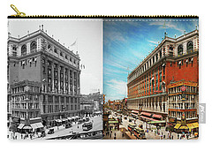 Carry-all Pouch featuring the photograph City - Ny New York - The Nation's Largest Dept Store 1908 - Side by Mike Savad