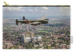 Carry-all Pouch featuring the photograph City Of Lincoln Vn-t Over The City Of Lincoln by Gary Eason