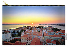 City Of Zadar Skyline Sunset View Carry-all Pouch
