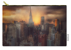 City Splendor - Sunset In New York Carry-all Pouch by Miriam Danar