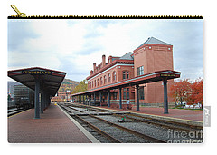 Carry-all Pouch featuring the photograph City Station by Eric Liller