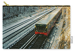 City Train In Berlin Under The Snow Carry-all Pouch