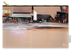Carry-all Pouch featuring the painting Cityscape 3 by Anil Nene