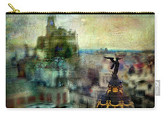 Carry-all Pouch featuring the photograph Cityscape 38 - Homeless Angels by Alfredo Gonzalez