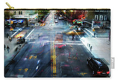 Carry-all Pouch featuring the photograph Cityscape 39 - Crossroads by Alfredo Gonzalez