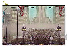 Cityscape With A Bit Of Fog Carry-all Pouch by Kathie Chicoine