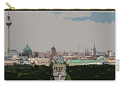 Cityscape Of Berlin - Painting Effect Carry-all Pouch