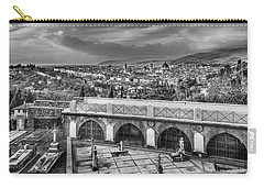 Carry-all Pouch featuring the photograph Cityscape Of Florence And Cemetery by Sonny Marcyan