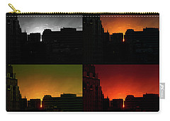 Cityscape Sunset Carry-all Pouch by Jeff Ross