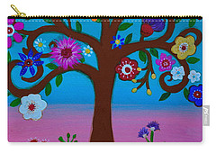 Carry-all Pouch featuring the painting Cj's Tree by Pristine Cartera Turkus