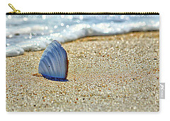 Clamshell In The Waves On Assateague Island Carry-all Pouch