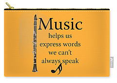 Clarinet Music Expresses Words Carry-all Pouch