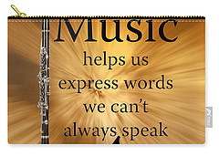 Clarinets Expresses Words Carry-all Pouch by M K  Miller
