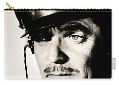 Carry-all Pouch featuring the photograph Clark Gable Hollywood Sex Symbol In The Movie Command Decision by R Muirhead Art