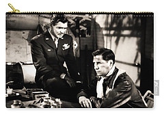 Carry-all Pouch featuring the photograph Clark Gable Hollywood Heart Throb In The Movie Command Decision by R Muirhead Art