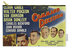 Carry-all Pouch featuring the photograph Clark Gable Movie Poster Command Decision by R Muirhead Art