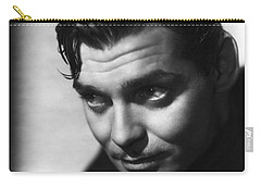 Carry-all Pouch featuring the photograph Clark Gable by R Muirhead Art
