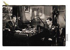 Carry-all Pouch featuring the photograph Clark Gable Staring In Command Decision by R Muirhead Art