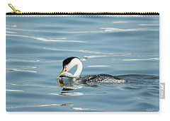 Carry-all Pouch featuring the photograph Clarks Grebe by Everet Regal