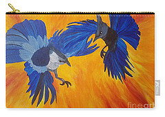 Clash Of Wings Carry-all Pouch by Maria Urso
