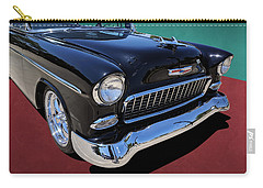 Classic Black And White 1950s Chevy Bel Air Carry-all Pouch