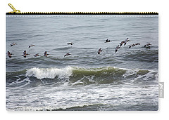 Classic Brown Pelicans Carry-all Pouch by Betsy Knapp