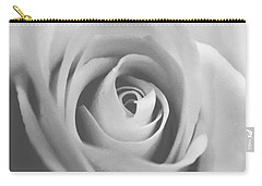 Classic Bw Rose Carry-all Pouch