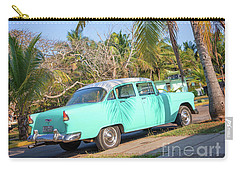 Classic Car In Playa Larga Carry-all Pouch