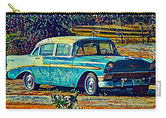 Classic Car On An Old Dirt Road Carry-all Pouch