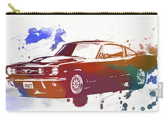 Classic Ford Mustang Watercolor Splash Carry-all Pouch by Dan Sproul