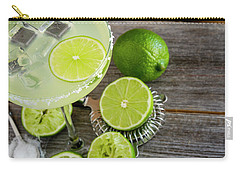 Carry-all Pouch featuring the photograph Classic Lime Margarita by Teri Virbickis