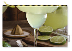 Carry-all Pouch featuring the photograph Classic Lime Margaritas On The Rocks by Teri Virbickis
