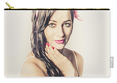 Carry-all Pouch featuring the photograph Classic Old Style Pin-up Girl by Jorgo Photography - Wall Art Gallery