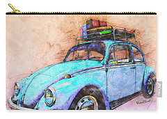 Classic Road Trip Ride Watercolour Sketch Carry-all Pouch