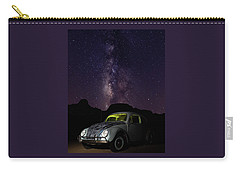 Classic Vw Bug Under The Milky Way Carry-all Pouch