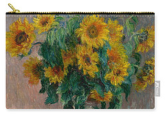 Claude Monet - Bouquet Of Sunflowers - 1881.. Carry-all Pouch