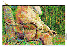 Claude Monet In His Garden Carry-all Pouch by Hidden Mountain