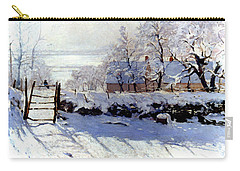 Claude Monet The Magpie - To License For Professional Use Visit Granger.com Carry-all Pouch