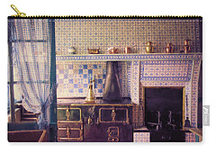 Carry-all Pouch featuring the photograph Claude Monet's Kitchen by John Rivera