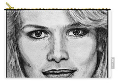 Claudia Schiffer In 1992 Carry-all Pouch by J McCombie